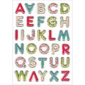 """Vibrant Letters - Foil 3D Pop-Up Stickers 5""""X7"""" Sheet"""