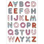 """Posh Letters - Foil 3D Pop-Up Stickers 5""""X7"""" Sheet"""