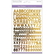 "Gold Reflective Letters - Font Fun Stickers 5.5""X8.25"""