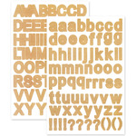 "Kraft Letters - Font Medley Stickers 5.5""X8.25"""