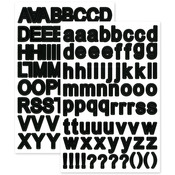 "Black Letters - Font Medley Stickers 5.5""X8.25"""