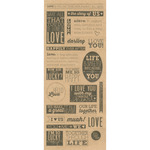 "The Story Of Us - Kraft Sentiments Stickers 5""X12"" Sheet"