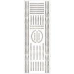 "Crystal Strips - Jewel Border Stickers 4""X10.5"" Sheet"