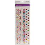 "Gem Medley - Jewel Border Stickers 4""X10.5"" Sheet"