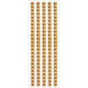 "Gold Pearl Floral - Jewel Border Stickers 4""X10.5"" Sheet"