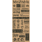 "Best Friends - Kraft Sentiments Stickers 5""X12"" Sheet"