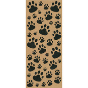 "Paws For Effect - Kraft Sentiments Stickers 5""X12"" Sheet"