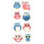 """Hoot Hoot! - Homemade Glitter Stickers 3""""X6.5"""" Sheet"""
