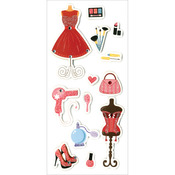 "Total Diva - Homemade Glitter Stickers 3""X6.5"" Sheet"