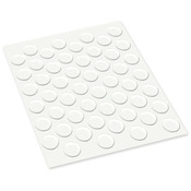 ".5"" Rounds 52/Pkg - MultiCraft Clear Glue Pads"