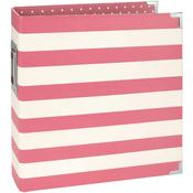 Pink Stripe 6 x 8 Binder - Snap - Simple Stories