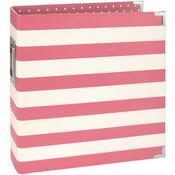 Pink Stripe 6 x 8 Binder - Snap - Simple Stories