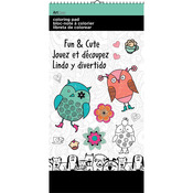 "Fun And Cute - Trends Mini Coloring Pad 6""X12"""