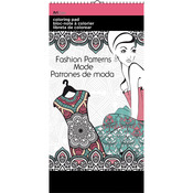 "Patterns In Fashion - Trends Mini Coloring Pad 6""X12"""