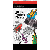 "Music - Trends Mini Coloring Pad 6""X12"""