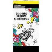 """Doodles - Trends Mini Coloring Pad 6""""X12"""""""