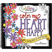 Color My Heart Happy - The Coloring Cafe' Coloring Book