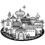 """The Star In The East - Crafty Individuals Unmounted Rubber Stamp 4.5""""X3.5"""" Pkg"""