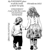 """My Favourite Place - Crafty Individuals Unmounted Rubber Stamp 3.5""""X5"""" Pkg"""
