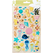 Mermaid - Par-r-rty Me Hearty Puffy Stickers