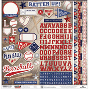 "Baseball Cardstock Stickers 12""X12"""