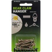"""Gold - Double Headed Bearclaw Hanger 1"""" 10/Pkg"""