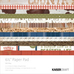 "Old Mac - Kaisercraft Paper Pad 6.5""X6.5"" 40/Pkg"