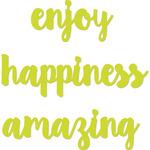 "Enjoy, Happiness, Amazing To 1.25""X4.25"" - Kaisercraft Dies"
