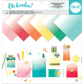"""Oh Goodie! Ombre - We R Memory Keepers Glassine Paper Pack 12""""X12"""" 24/Pkg"""