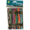 Ombres - Embroidery Thread Pack 8.75yd 24/Pkg Iris-Embroidery Thread Pack: Ombres. Great for worry dolls, friendship bracelets, key chains, shoe laces and more! This package contains twenty-four 8-3/4 yard floss skeins in assorted colors. Conforms to ASTM D4236. Imported.