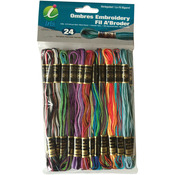 Ombres - Embroidery Thread Pack 8.75yd 24/Pkg