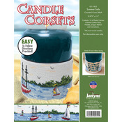 "10.875""X2.5"" 14 Count - Candle Corsets Summer Sails Plastic Canvas Kit"