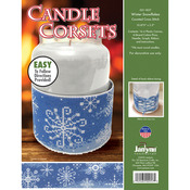 """10.875""""X2.5"""" 14 Count - Candle Corsets Winter Snowflakes Plastic Canvas Kit"""