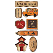 Back To School - Kraft Paper Elements Stickers