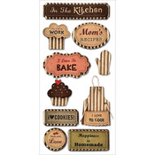 Love To Cook - Kraft Paper Elements Stickers
