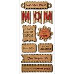 Best Mom - Kraft Paper Elements Stickers