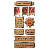 Best Mom - Kraft Paper Elements Stickers