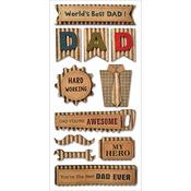 Best Dad - Kraft Paper Elements Stickers