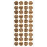 Kraft Thank You - Sentiment Seal Stickers