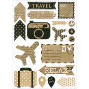 Travel - Vintage Kraft Stickers