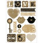 Key To My Heart - Vintage Kraft Stickers