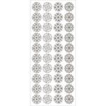 Damask Doily - Sentiment Foil Seal Stickers