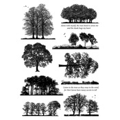 """Listen To The Trees - Crafty Individuals Unmounted Rubber Stamp 8""""X11.5"""" Pkg"""