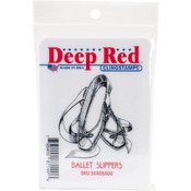 "Ballet Slippers - Deep Red Cling Stamp 2""X2"""