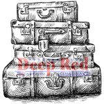 """Luggage - Deep Red Cling Stamp 2""""X2"""""""