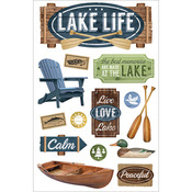 Lake Life - Paper House 3D Stickers