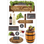 Wine Country - Paper House 3D Stickers