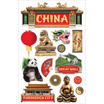 China - Paper House 3D Stickers