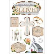Greatest Is Love - Paper House 3D Stickers
