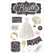 The Bride - Paper House 3D Stickers